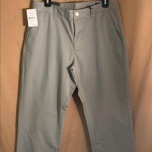 NWT bonobos grey pants grey dogs slacks size 32x32